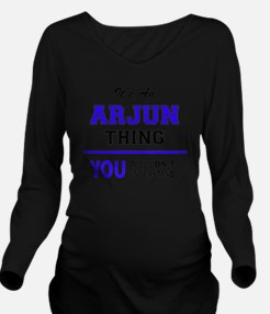 Cute Arjun Long Sleeve Maternity T-Shirt