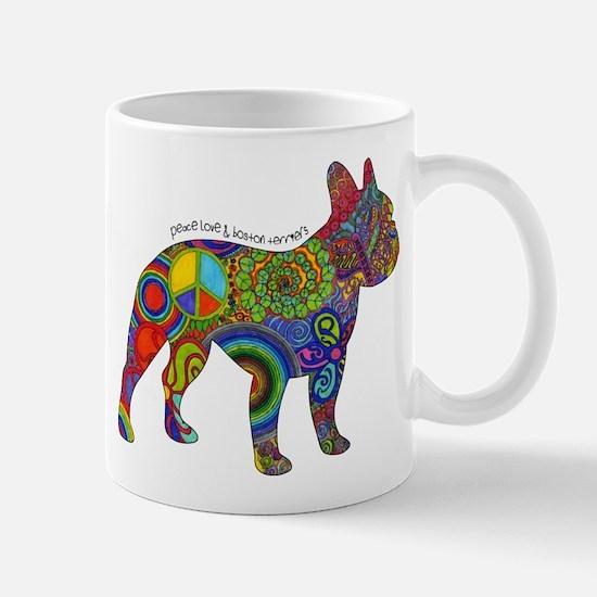 Peace Love Boston Terriers Mug