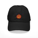 Grinning Halloween Pumpkin Black Cap
