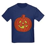 Grinning Halloween Pumpkin Kids Dark T-Shirt