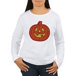 Grinning Halloween Pumpkin Women's Long Sleeve T-S