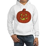 Grinning Halloween Pumpkin Hooded Sweatshirt