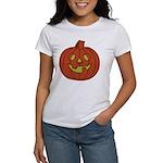 Grinning Halloween Pumpkin Women's T-Shirt