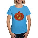Grinning Halloween Pumpkin Women's Dark T-Shirt