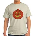 Grinning Halloween Pumpkin Light T-Shirt