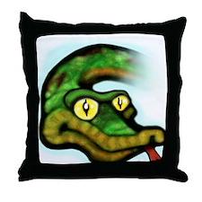 Funny Snake eyes Throw Pillow