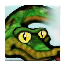 Unique Snake eyes Tile Coaster
