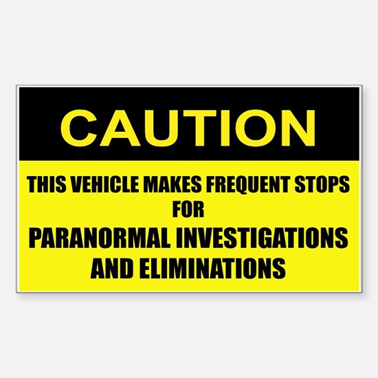 Paranormal Investigations and Eliminations Decal