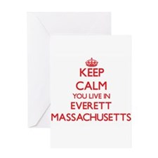 Keep calm you live in Everett Massa Greeting Cards