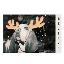 Basset Hound Christmas Postcards (Package of 8)