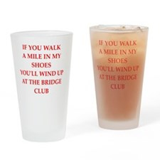i love bridge Drinking Glass