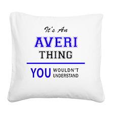 Unique Avery Square Canvas Pillow