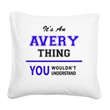 Cute Avery Square Canvas Pillow