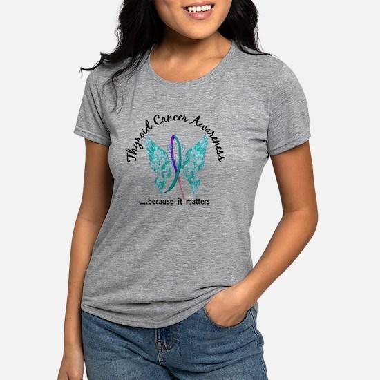Thyroid Cancer Butterfly 6.1 T-Shirt