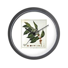 Coffee Botanical Print Wall Clock