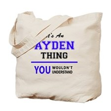 Cute Ayden Tote Bag