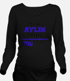 Funny Aylin Long Sleeve Maternity T-Shirt