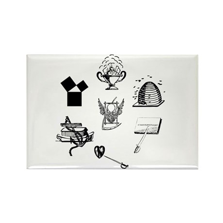 Master Mason Emblems No. 1 Rectangle Magnet