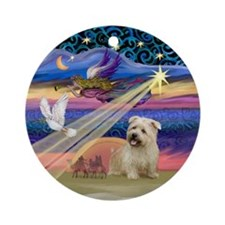 Xmas Star & Glen of Imaal Terrier Ornament (Round)