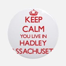 Keep calm you live in Hadley Mass Ornament (Round)