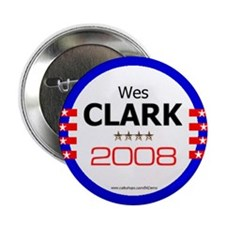 """Wes Clark in 2008"" Button"