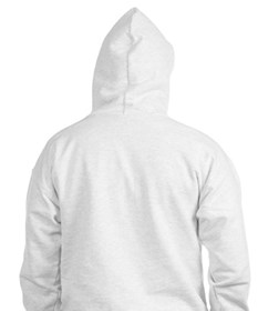 Fitted Hoodie- big cross on back