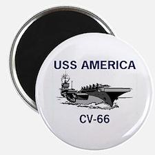 """USS AMERICA CV-66 2.25"""" Magnet (10 pack)"""