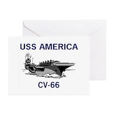 USS AMERICA CV-66 Greeting Cards (Pk of 10)