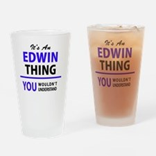 Funny Edwin Drinking Glass