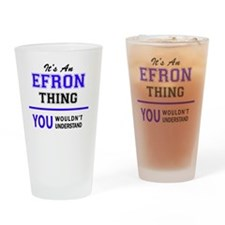 Cute Efron Drinking Glass