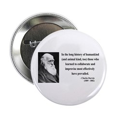 "Charles Darwin 10 2.25"" Button (10 pack)"