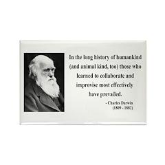 Charles Darwin 10 Rectangle Magnet (10 pack)