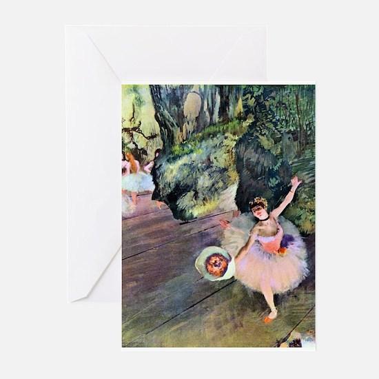 Edgar Degas Dancer With Flowers Greeting Cards
