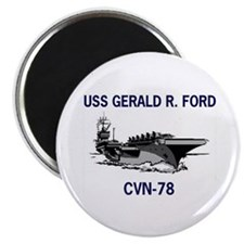 """USS GERALD R. FORD 2.25"""" Magnet (100 pack)"""