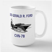 USS GERALD R. FORD Large Mug
