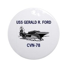 USS GERALD R. FORD Ornament (Round)