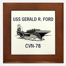 USS GERALD R. FORD Framed Tile