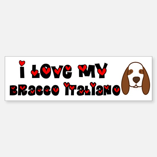 Love Bracco Italiano Bumper Bumper Bumper Sticker