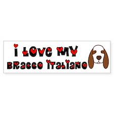 Love Bracco Italiano Bumper Bumper Sticker