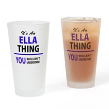 Unique Ella Drinking Glass