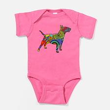 Peace Love Bull Terriers Baby Bodysuit