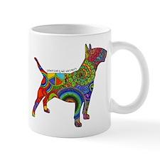 Peace Love Bull Terriers Small Mugs