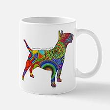 Peace Love Bull Terriers Small Small Mug