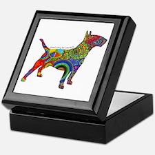 Peace Love Bull Terriers Keepsake Box