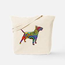 Peace Love Bull Terriers Tote Bag