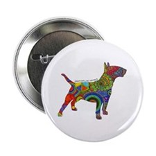 """Peace Love Bull Terriers 2.25"""" Button (10 Pac"""
