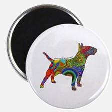 "Peace Love Bull Terriers 2.25"" Magnet (10 Mag"