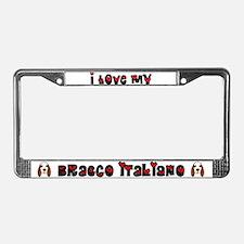 Love Bracco Italiano License Plate Frame