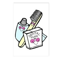 Toothbrush Toothpaste Floss Postcards (Package of