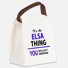Funny Elsa Canvas Lunch Bag
